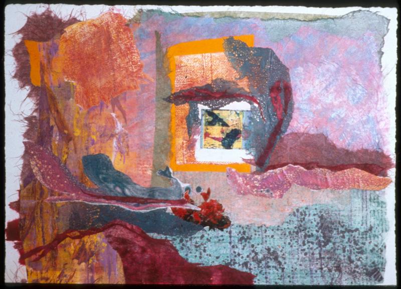 Secret Garden - 22x30 - Painted Paper Collage