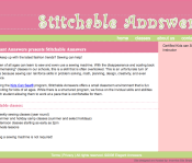 Stitchable Annswers - Website & Logo