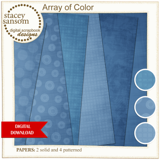 Array of Color Blue Paper Pack from Stacey Sansom Designs
