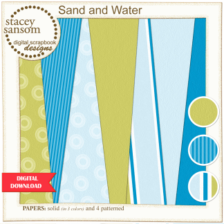 Sand and Water Paper Pack from Stacey Sansom Designs