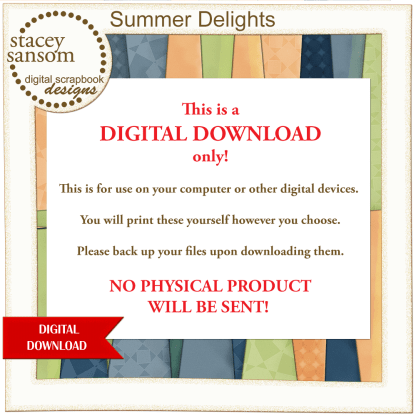 Summer Delights Paper Pack from Stacey Sansom Designs