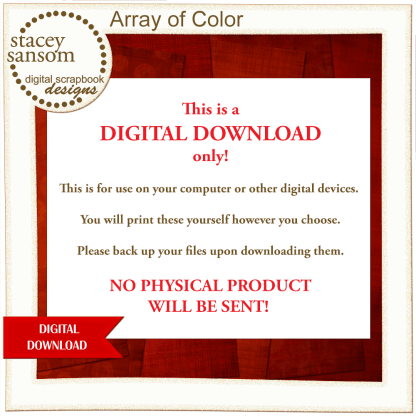 Array of Color Red Paper Pack from Stacey Sansom Designs