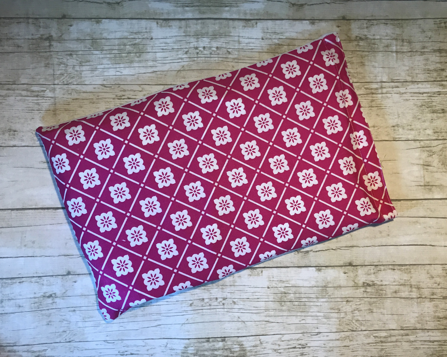 Ice Pack Cover - Magenta Floral Grid - 8x12