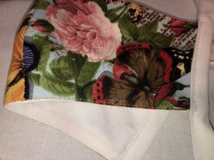 Small Face Mask (Ver 1) - Floral and Butterflies | Stacey Sansom Designs