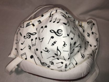 Large Face Mask (Ver 1) - Music Notations | Stacey Sansom Designs