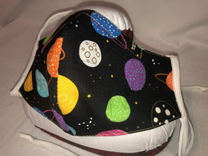 Large Face Mask (Ver 1) - Planets | Stacey Sansom Designs