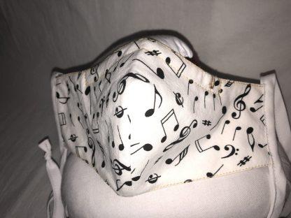 Medium Face Mask (Ver 1) - Music Notations | Stacey Sansom Designs