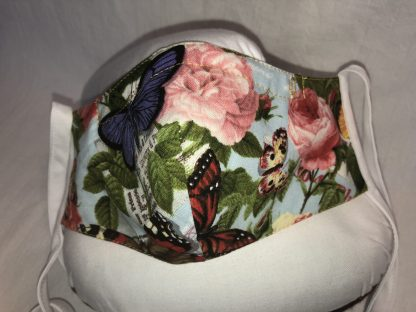 Medium Face Mask (Ver 1) - Floral and Butterflies | Stacey Sansom Designs