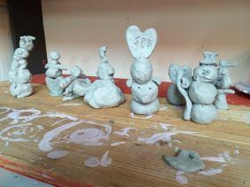 sculptures clay camp