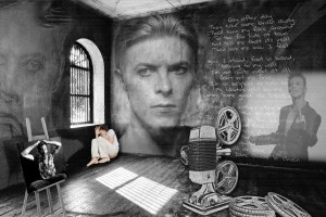 David Bowie Art Creation by Steve Stachini - Asylum V1 150cm x 100cm