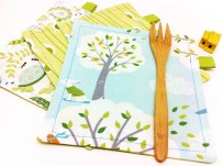 "Kids LUNCH - Size: 6.5 x 6"" w/ Tab"