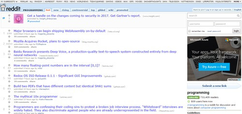 Reddit Programming