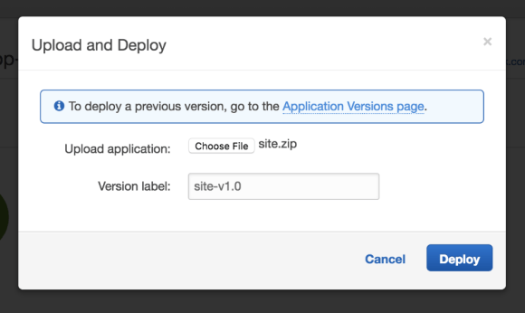 Creating a .NET Application in AWS Beanstalk - Screenshot of ready to upload and deploy