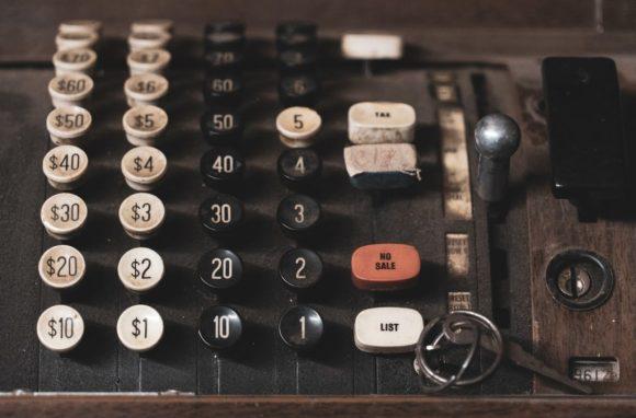 old cash register buttons