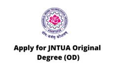 Apply for JNTUA Original Degree (OD)
