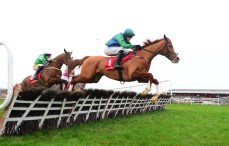 PUNCHESTOWN 14-1-19. CARLO BIRAGHI and Danny Mullins jumping to win for trainer Fozzy Stack. Photo Healy Racing.