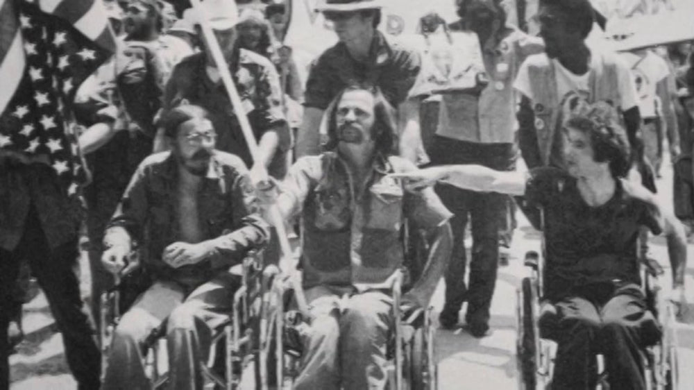 Ron Kovic at one of the anti-war protests