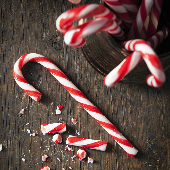 Christmas Candy Canes | Food Photographer Stacy Grant