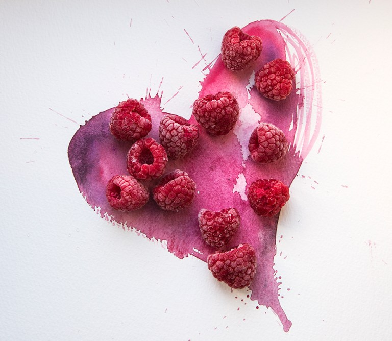 Heart of Raspberries | Valentine's Day | Stacy Grant | Creative Food Photographer