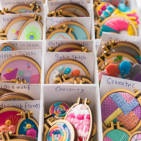 Dandelyne Mini Embroidery Hoops | Stacy Grant Photography