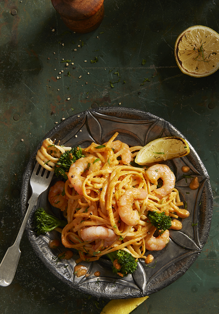 King Prawn Linguine | Stacy grant Photography | Food Photographer