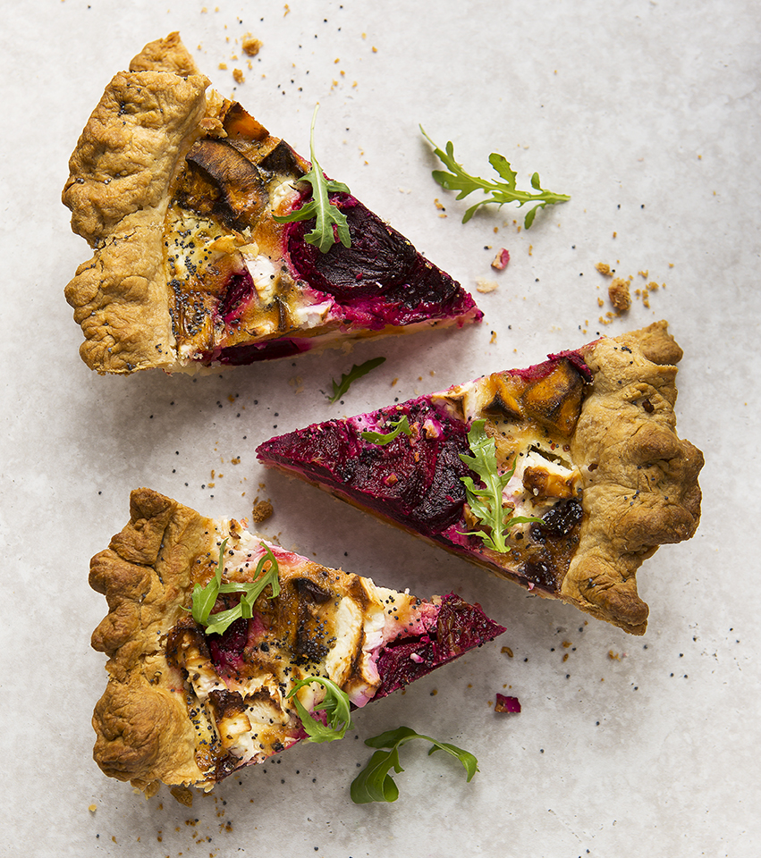 Beetroot Quiche | Meat Free Monday | Stacy Grant | Food Photographer | Vegetarian recipe
