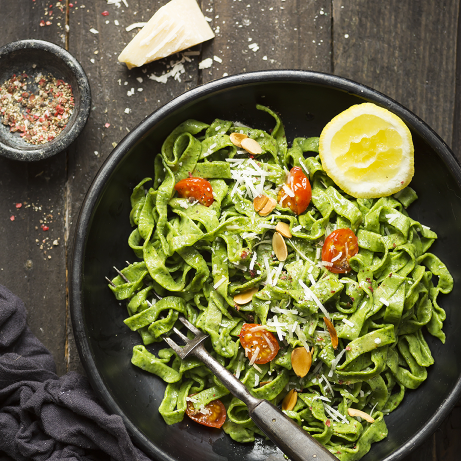 Spinach Tagliatelle Pasta | Stacy Grant | Food photography