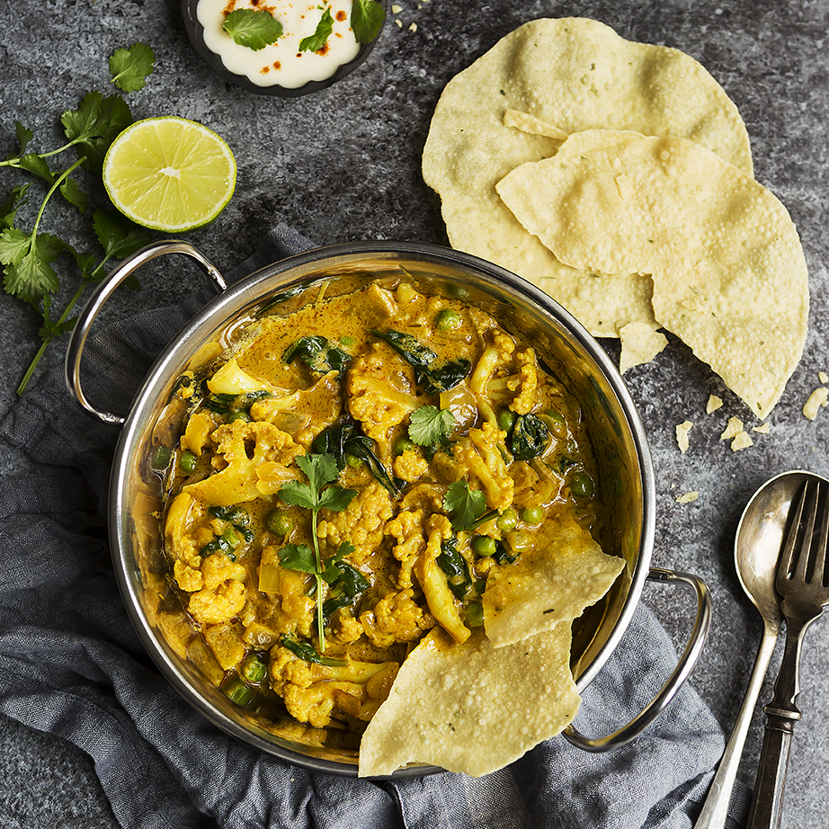 Vegan Cauliflower Korma | Meat Free Momnday | Stacy Grant Photography