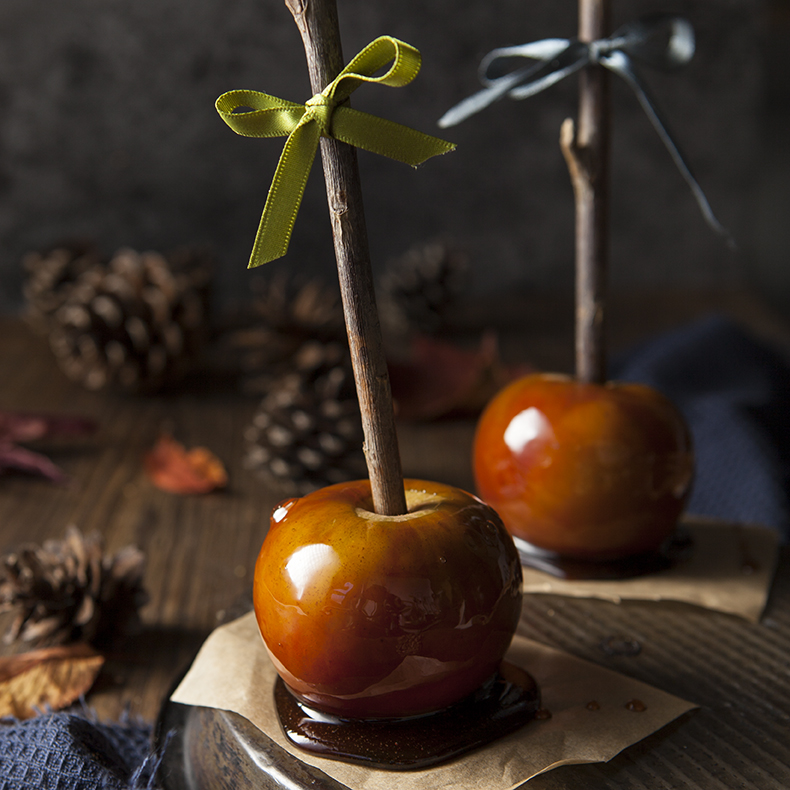 Toffee candy apples - Stacy Grant - Food Photography