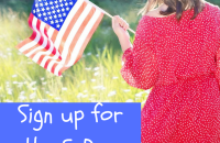 Family activities celebrate the American flag