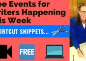 Free Events For Writers Happening This Week!!!