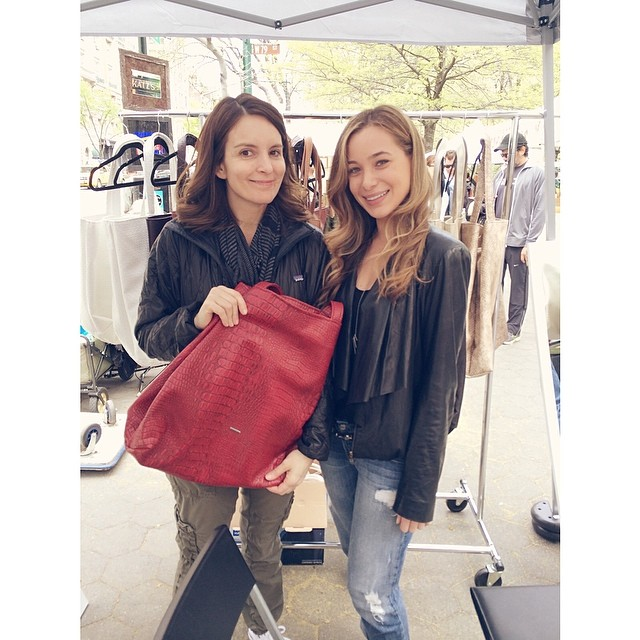 Tina Fey and her Leni Penn  tote