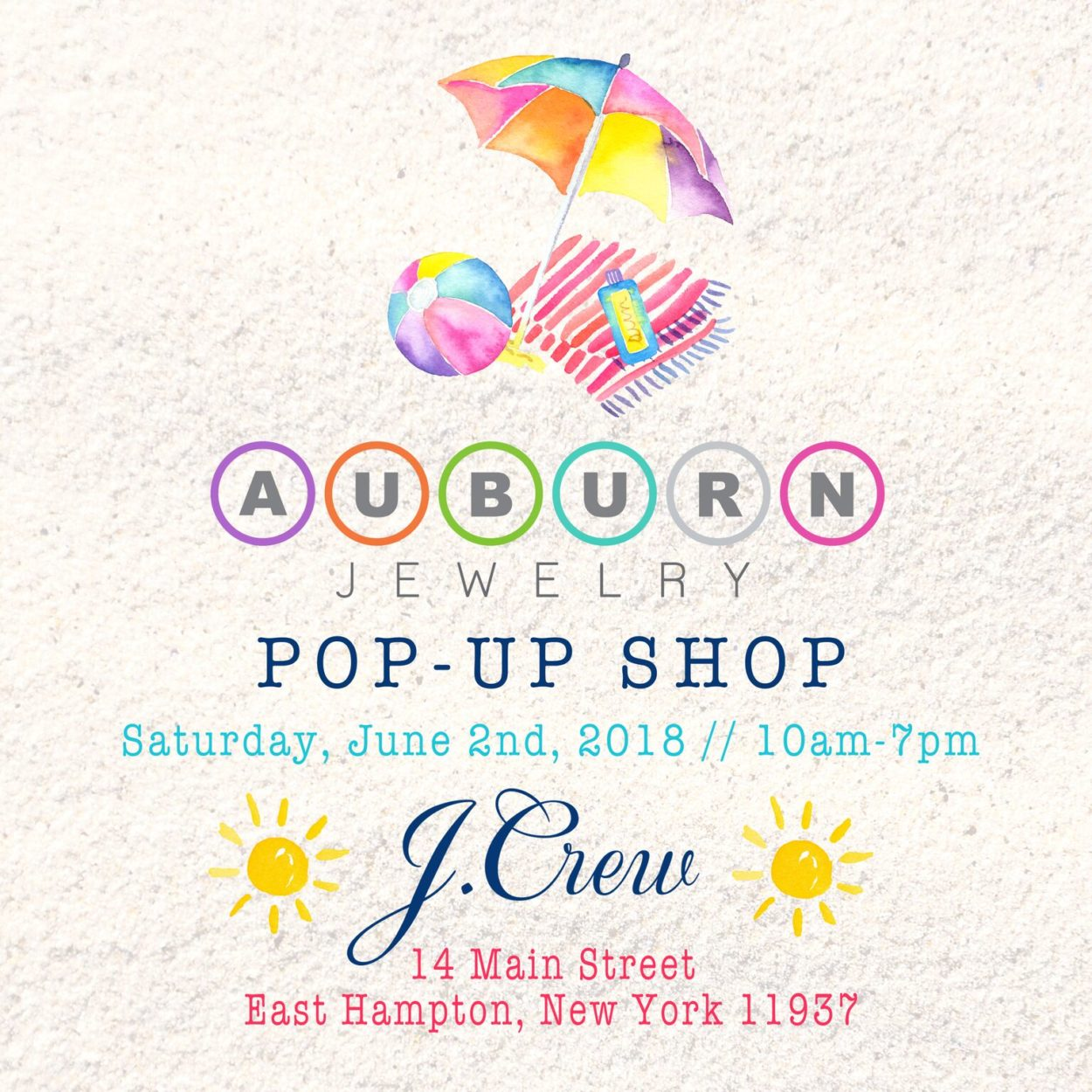 Westchesters Auburn Jewelry Trunk Show at J Crew In East Hamptom