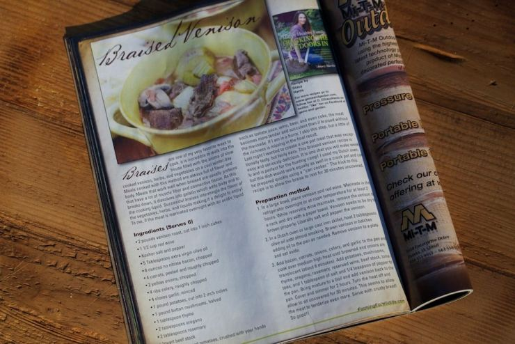 Winter Issue of Gamekeepers Farming for Wildlife Magazine (Gamekeepers of Mossy Oak)Stacy's Arcticle and Recipe