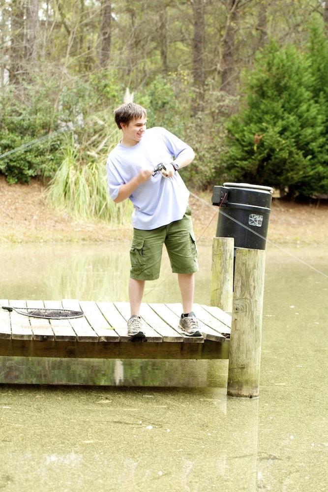 Preparing for Fishing Tournament
