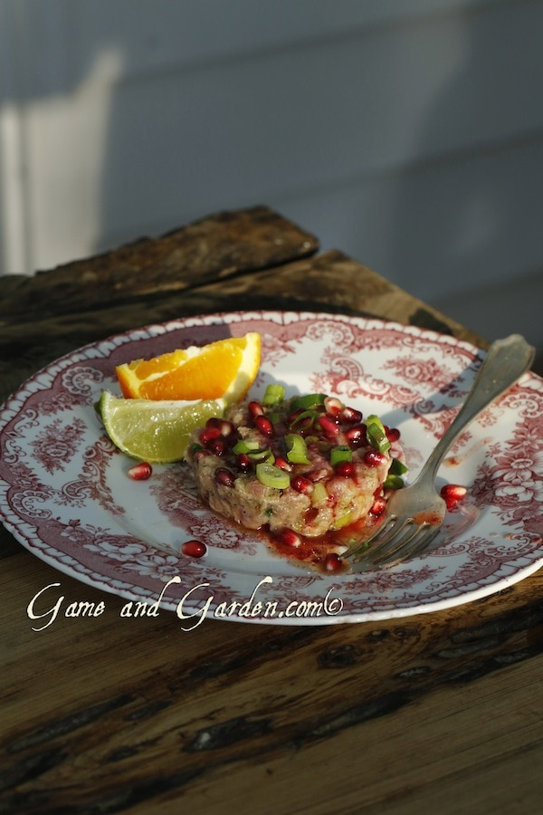 Tuna Tartare with Pomegranates