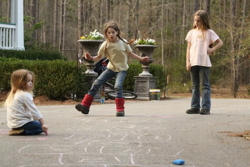 I love playing hopscotch! Do any of you?