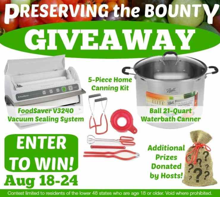 Preserving the Bounty Giveaway