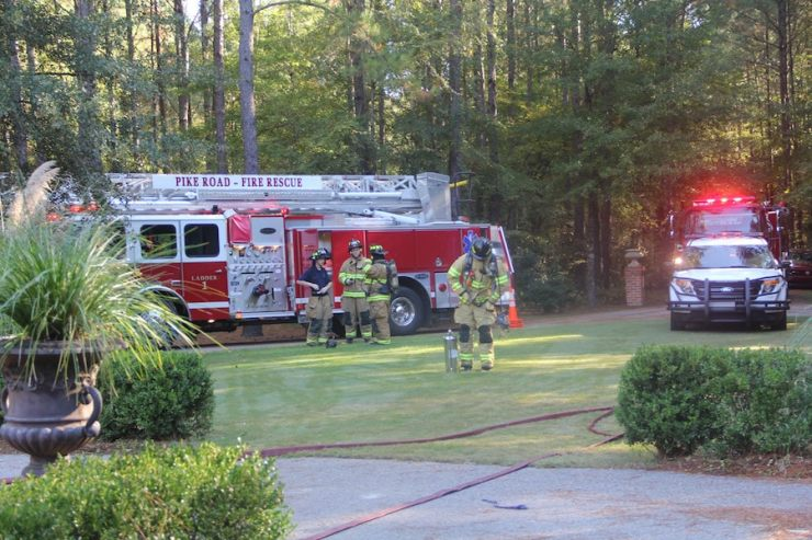 Firetrucks and firemen filled my yard just hours before the event. God really does have a great sense of humor...