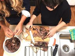 making venison bulgogi - paula lee and stacy lyn harris