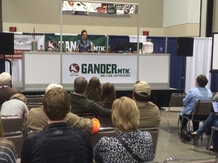 Stacy Lyn cooks Southern style quail at Pheasant Fest and Quail Classic in Kansas City, Missouri!