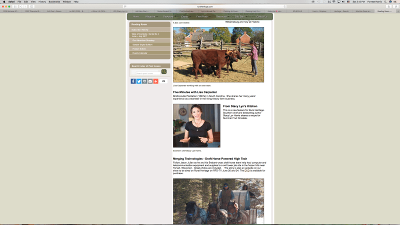 Stacy Lyn Harris on Rural Heritage TV