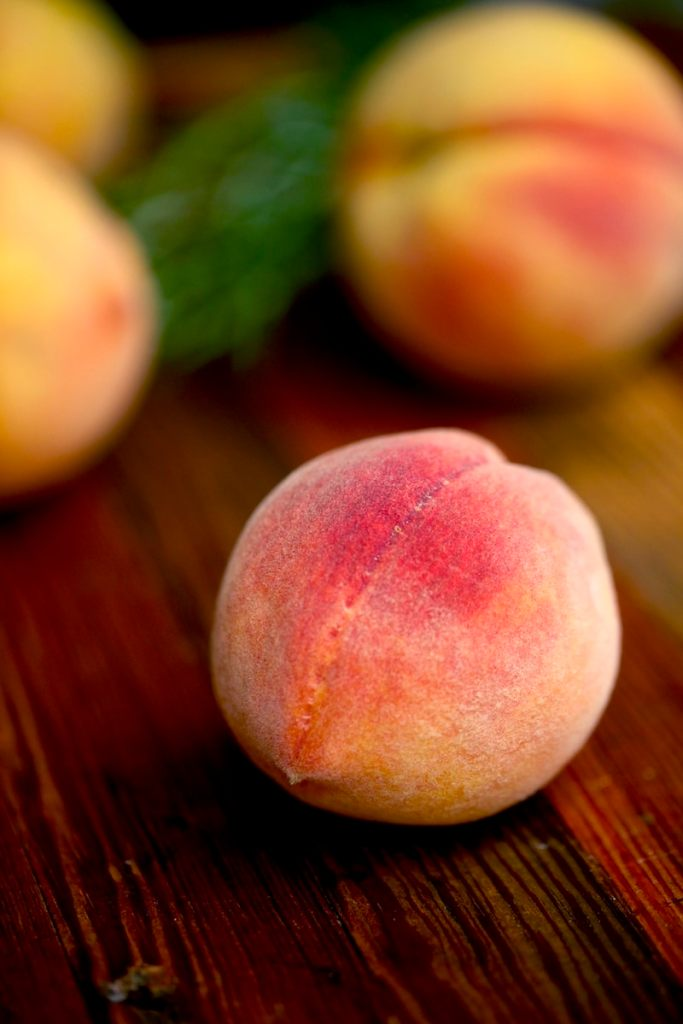 Peaches are full of vitamins and minerals. People don't know but they have fluoride which prevents tooth decay!