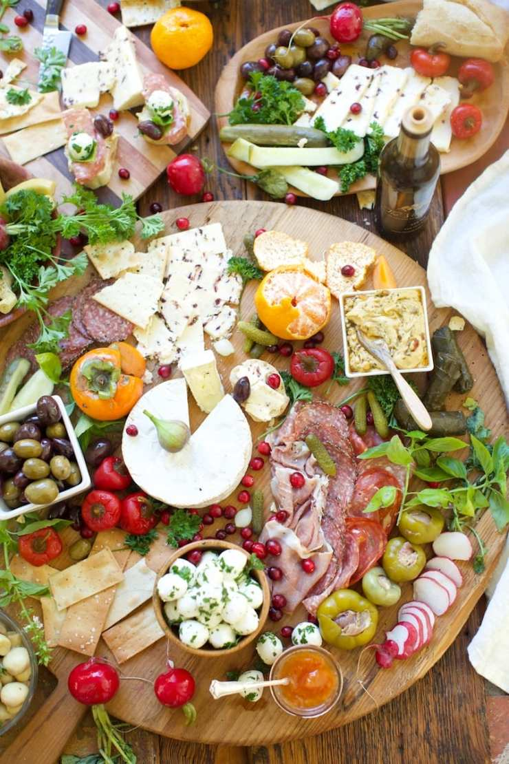 Antipasto on French Bread Boards make an amazing spread for entertaining.