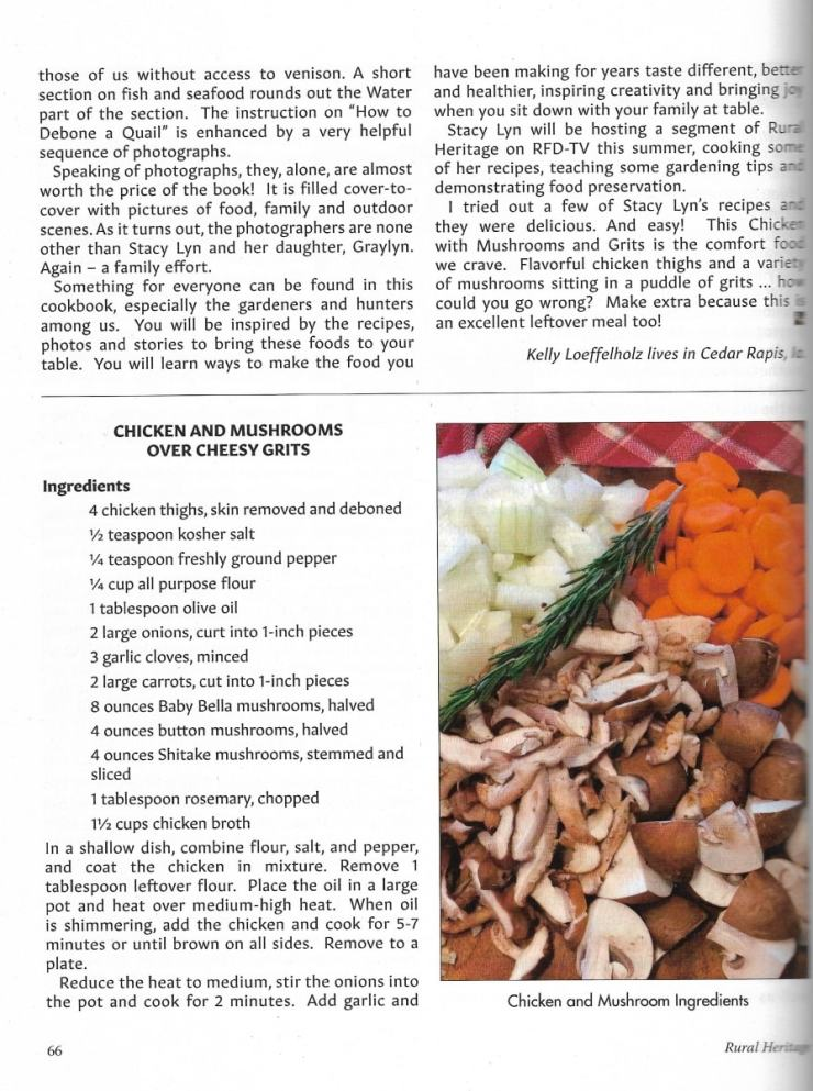 Rural Heritage Magazine Features Stacy Lyn Harris - Recipes