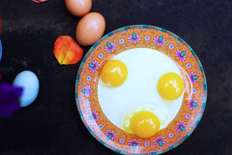 perfect yolk from free range eggs