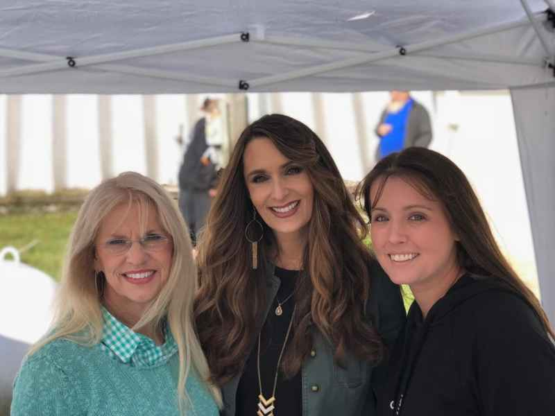 Penny and Brittany from Happy Days Farm with Stacy Lyn Harris