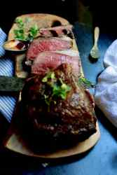 Prime rib or standing rib roast cooked rare, recipe by Stacy Lyn Harris