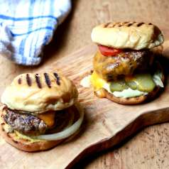 Photo of grandaddy's black pepper burgers, recipe by stacy lyn harris