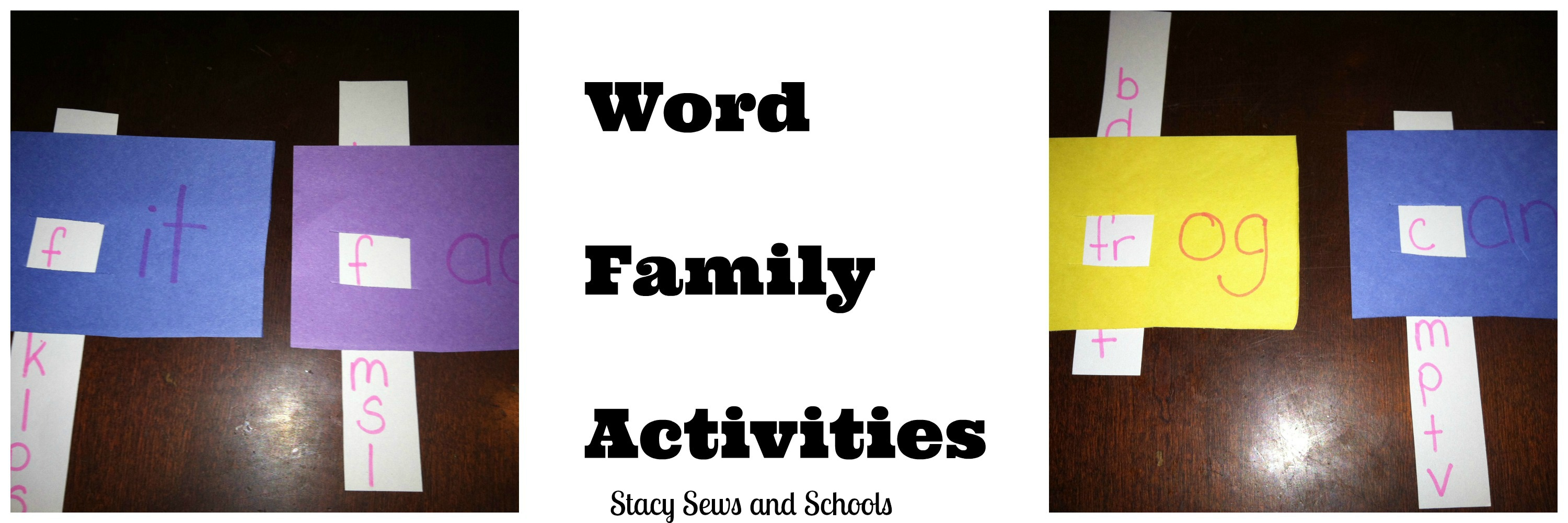 Stacy Sews And Schools Easy Word Family Sight Word Activities